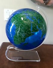 "Spherical Concepts ArtLine Globes 12"" Blue/Green Acrylic Earthsphere Table Globe"