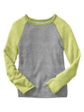 New GAP Kids Girls Baseball Colorblock Sweater Small S 6 7 NWT $35