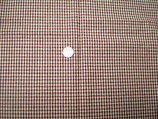 Brown-Rust-Cream Check Bottomweight Fabric
