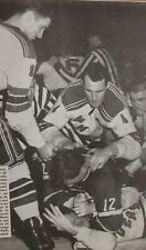 FLOYD CURRY MONTREAL VS  ANDY HEBENTON BOSTON NEW YORK HOCKEY  Photo