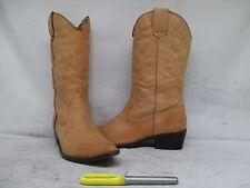 Aldo Tan Leather Cowboy Western Boots Size 39 EUR