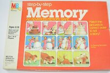 Vintage 1983 Milton Bradley Step-by-Step Memory Game with Box Complete
