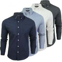 Crosshatch Men's 'Designer Sloane' Oxford Long Sleeved Collared Casual Shirt