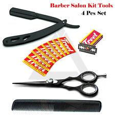 Men's Hair Grooming Kits Hairdressing Barber Scissor, Shaving Razor Stylish Comb