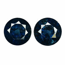 Eye Clean Good Cut Round Blue Loose Natural Sapphires