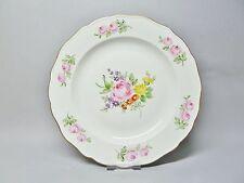 (g847) Meissen piatto, dipinte con vivaci fiori e rose rosse, D = 25,5 cm