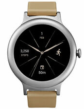 LG Watch Style W270 45.7mm Silver Stainless Steel Tan Classic Buckle