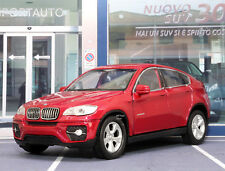 BMW X6 Red 1:38 Scale Metal Model Pull Back Car New Ages 3+