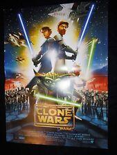 STAR WARS the clone wars   ! george lucas affiche cinema guerre des etoiles