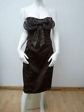 PINK & LILLY SEXY STRAPLESS BROWN KNEE LENGTH CORSET DRESS  UK 14   BNNT