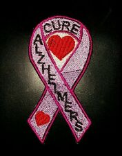 Cure alzheimers awareness motorcycle biker vest embroidered  patch iron on