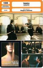 Fiche cinema: taboo-takeshi kltano, ryuhei matsuda, nagisa oshlma 1999 Gohatto