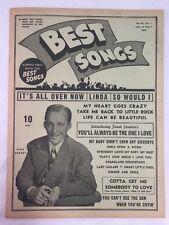 Best Songs Newspaper Magazine April 1947 Volume VII Number 4 Bing Crosby Cover
