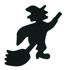 Witch on Broom Cutouts Plastic Shapes Confetti Die Cut 15 pcs  FREE SHIPPING