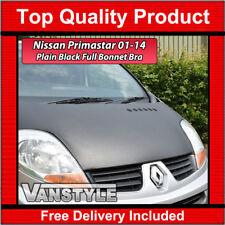 NISSAN PRIMASTAR X83 2001-2014 PLAIN BLACK BONNET STONE CHIP PROTECTOR COVER BRA