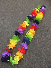 150x Luau Hawaiian Beach Pool Party Favour Rainbow Flower Neck Lei Leis New Year
