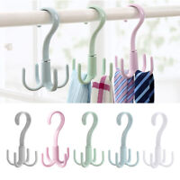 360-Degree Rotatable Scarf Hanger Wardrobe Bag Tie Hanger Scarf Four-Claw Hanger