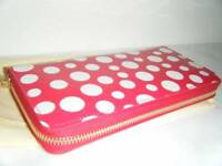 AUTH LOUIS VUITTON MONOGRAM VERNIS DOTS INFINITY ZIPPY RED WALLET YAYOI KUSAMA
