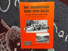 1985 BRANDS HATCH PROGRAMME 17/11/85 - BBC GRANDSTAND FORD 2000 RACES