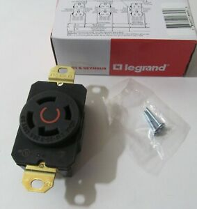 NEW LEGRAND NEMA L16-30R/ L1630-R TURNLOK RECEPTACLE 30A 3PH 480V 3P 4-WIRE