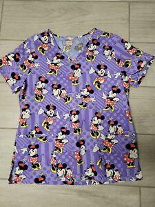 Purple Minnie Mouse Scrub Top S/M