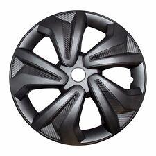 """4x Radkappen Carbon GREY 16"""" Zoll Auto Radzierblenden Silber Grau BMW AUDI VW"""