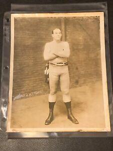 Stunningly Clean Original 1909 James Jeffries Type 1 Boxing Photo PSA Ready Rare