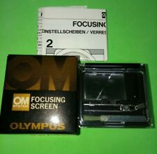 Olympus Focusing Screen 1-6 w/Case & Box for OM System Used from Japan Mint