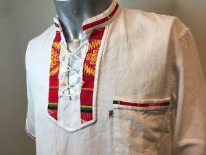 Phyris Hand Crafted Ecuador Men's Cultural Shirt Lovely Design Medium