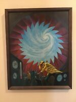 Jack Gaughan, Signed Cover Painting for Analog, February 1974