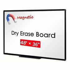 "VIZ-PRO Magnetic Dry Erase Board Whiteboard 48"" X 36"" Black Aluminium Frame"