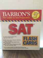Barron's SAT 500 Flash Cards Students #1 Choice In Test Preparation