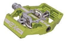 HT Pedals X2 clipless platform pedals, CrMo - apple green