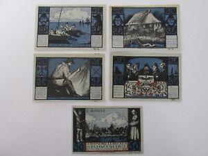 1921 Gothmund-Lubecker Wechselschein 50/75 Pfennig Notes Lot of 5