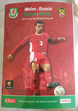 Wales v Russia European Championships 2004 Qualification Play Off Cardiff