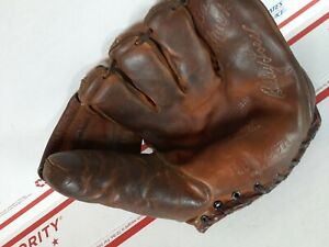 Wilson Baseball Glove RHT A2121 Billy Loes Brooklyn Dodgers 1941 Patent Vintage