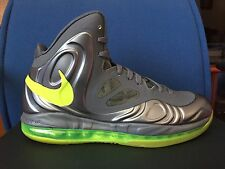 New Nike Air Max Hyperposite sz 9 Charcoal Atomic Green Gray Volt Dunkman Lebron