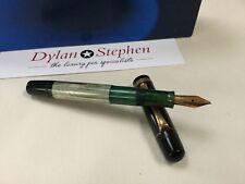 Pelikan 100N vintage 1950's rare grey/green marbled fountain pen 14ct OB nib
