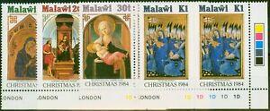 Malawi 1984 Christmas Set of 4 SG716-719 in V.F MNH Control Corner Marginals