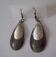 D45# GRANDE Orecchini pendenti GRIGIO - argento forma a goccia