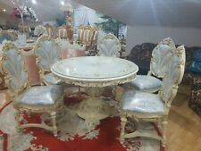SILIK ITALY ORIGINAL SILIK BAROQUE STYLE DINING ROOM TABLE AND 5 CHAIRS #S96