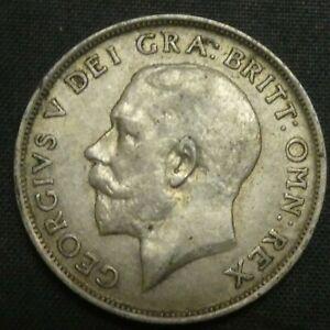 1919 Great Britain Silver Shilling GEORGE V KM# 816