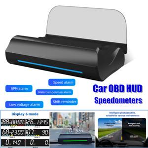 1×Heads Up Display For Cars HUD OBD BD2 Gauge Display Speedometer Ambient Light