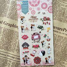 Wedding Stickers love valentine Scrapbook diary Cardmaking art