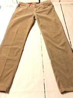 Adriano Goldschmied Women's Pant The Angel Brown Slim Fit Corduroys Size 28 X 27