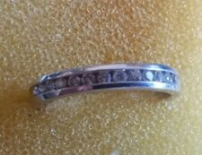 - 2.44g - Size 5 1/2 (C15) 14K White Gold Band with 13 Diamonds .20Ctw