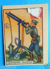 figurines cromos cards figurine v.a.v. vav la guerra nostra 91 germania fanteria
