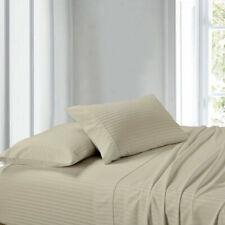 Australian Bedding Items Ultra-Plush 1000 TC Egyptian Cotton Beige Stripe