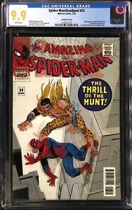 Spider-Man/Deadpool #23 CGC 9.9 Lenticular Variant! Amazing Spiderman 34 Homage!