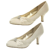 WOMENS LADIES WEDDING BRIDAL LADIES PROM SHOES LOW HEEL BRIDESMAID EVENING SANDA